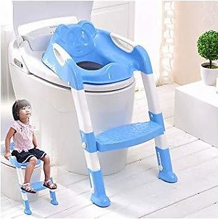 Baby Close stool Toilet Commode Trainer Seat With Ladder