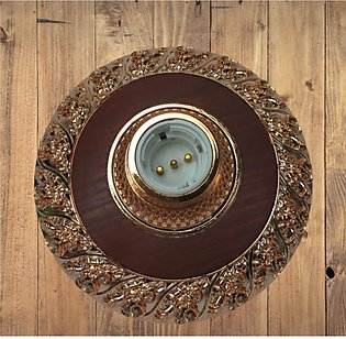 3 x Brown Colour Fancy Decorative Ceiling Lamp Base Wall Bulb Holder 2 in 1 (E2…