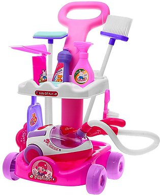 Girls Vacuum Cleaner Play Toy with Light Sound Cleaning trolley