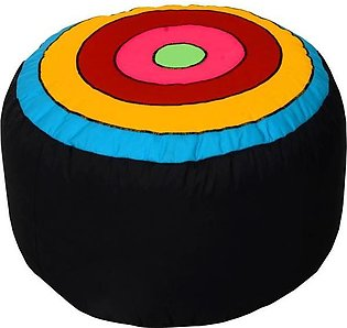 Relaxsit Colorful Round Shape Stool Circles Fabric Bean Bag - Ottoman Footrest …