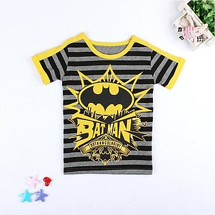 Children'S Summer Batman Boy Short Sleeve T-Shirt Top Children'S Wear  Baby Gir…