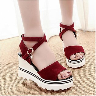 Breathable Slipsole Lady Sandals Peep Toes Platform Shoes Casual Female Shoes-d…