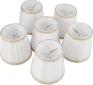 Chandelier Shades,ONLY for Candle Bulbs,Set of 6, White