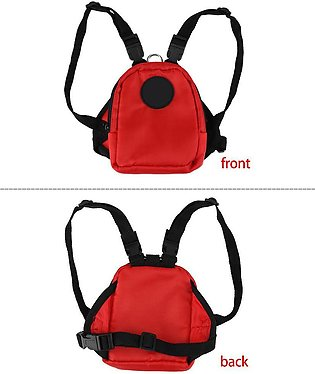 2Sizes 3Colors Small Dog Pet Backpack Snack Storage Bag Harness with Lead Leash