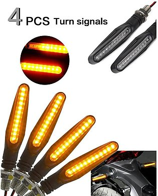 Pack Of 4 - Universal Motorcycle Bike Amber Led Indicator Blinker Light Lamp