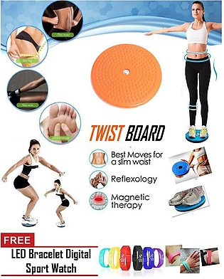 Free gift with Twisting Disc Slimming Fitness Equipment Balance Board Women Fit…