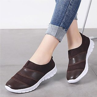 Fashion Women Suede Casual Zipper Sport Shoes Runing Breathable Shoes Sneakers