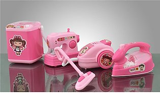Household Set Toys For Girls - 4 Pieces - Pink