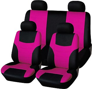 8pcs Car Universal Seat Cover Cushion Wear Protector Seat Cover Pink