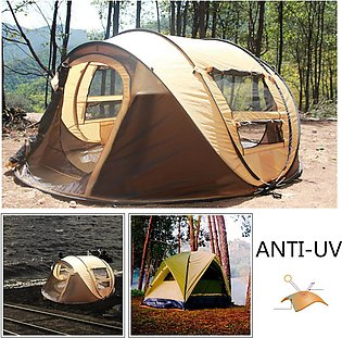 5-8 Person Waterproof Camping Tent Quick Automatic Open Outdoor Portable Shelter