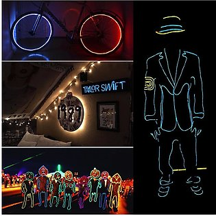Colorful EL Light LED Creative Soft Tube Wire Neon Glow Car Rope Strip Light Pa…