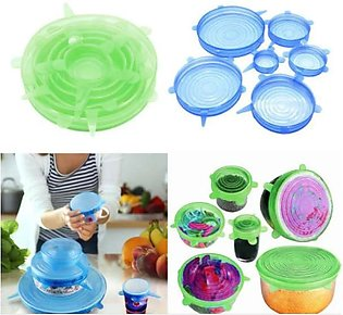 6Pcs Universal Food Silicone Cover Silicone Stretch Lids For Cookware Reusable …