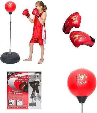 Punching Boxing Stand with Gloves Set For Kids