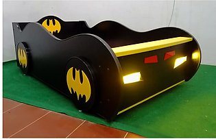 Baby Cot BatMan Car Bed for Boys, Kids Furniture with Mattress