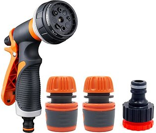 Water Nozzle with Heavy Duty 8 Adjustable Watering Patterns, Slip and Shock Res…