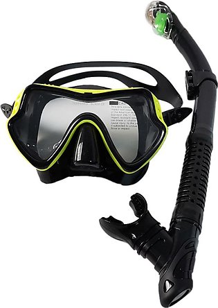 Snorkeling Set Anti-Fog Diving Mask Snorkel with Silicone Mouth Piece Scuba for…