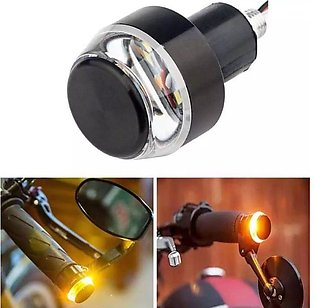 Handlebar End Turn Signal Light Indicator Flasher Handle Bar Blinker for Motorc…