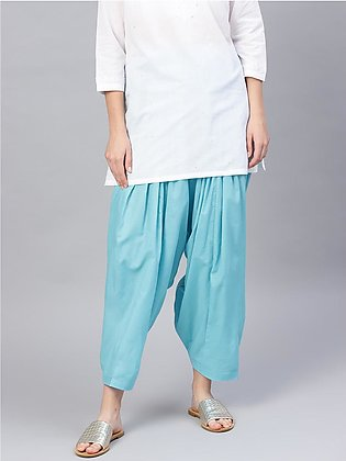 Cotton Solid Pleated (Patiyala) Shalwar, Box Pleated Trousers, Pleated Pants, P…