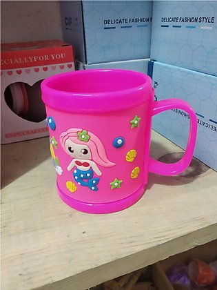 Cartoon Characters Rubber Coated Embossed Milk Tea Cups Drinkware For Kids 300m…