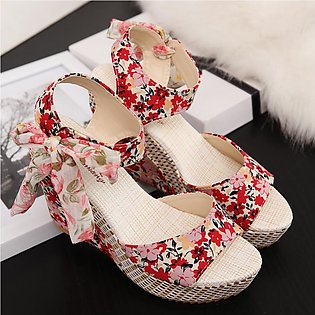 Women Fashion Summer Slope With Flip Flops Sandals Loafers Shoes