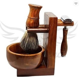 Personal Care Complete Wooden Barber Shaving Set