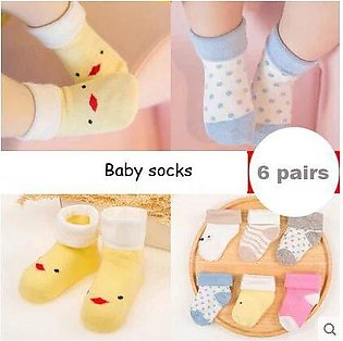 6 Pairs/12 Pcs Casual Newborn Baby Socks - Cotton Mesh Baby Breathable Socks - …