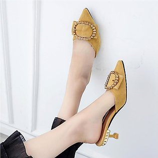 Women Pointed Toe Outside Slippers Sandals High Heels