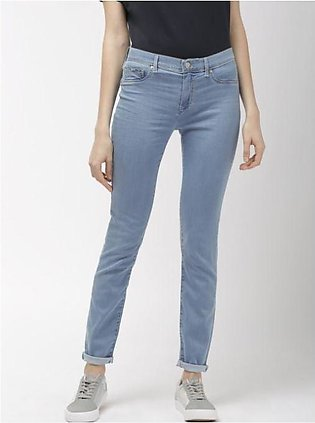 Baby Blue Slim fit Jeans for Women