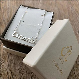 Personalized/Customized Design Name Silver Plated Pendant Necklace For Both - C…