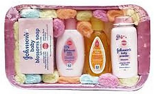 Gift Set for New Born Babies With Basket Original Baby Powder Soap Lotion Shamp…