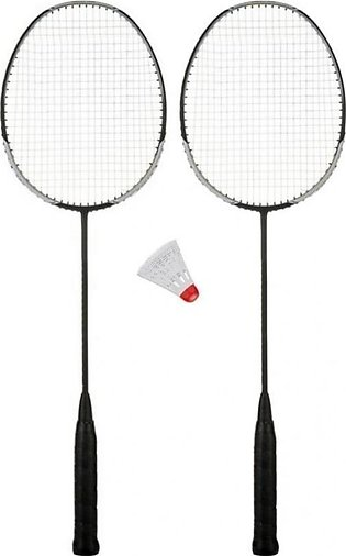 Pair Of Badminton Racket And 1 Shuttle