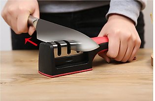 Knife Sharpener with Cut Resistant Glove