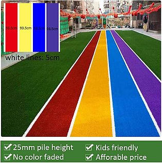 Artificial Grass Multi Coloured 25MM 8FT x 13FT (104 SQFT) - Indoor Outdoor Gar…