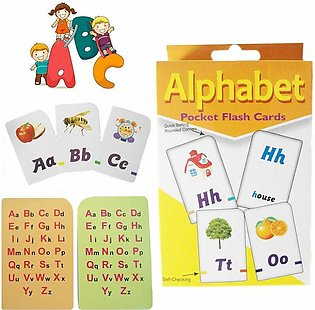 Educational Alphabets Flash Cards 52 cards in box For Educational Purpose