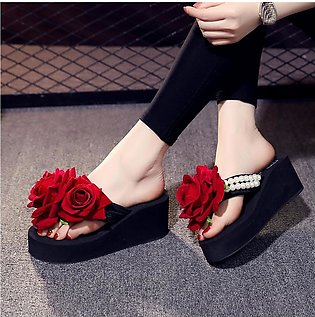 Women's Casual Crystal Wedge Open Toe Sandals