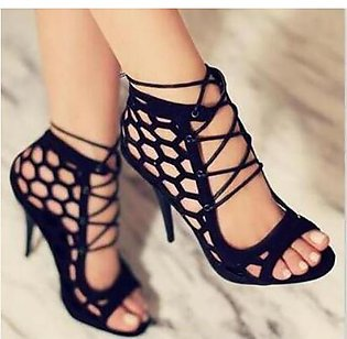 Women High Heels Summer Sandals Peep Toe Hollow-out Stilettos Shoes for Gladiat…