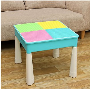 3 In 1 Learning Desk and Play Desk Multifunction Building Block Table  for Kids