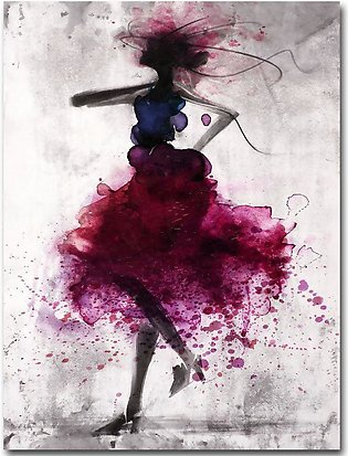 Fashion Girl Minimalist Abstract Art Canvas Poster Painting Modern Decor FA005 …