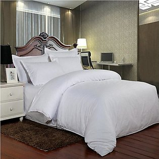 White Stripe Duvet Cover Set - 4 Pcs - 160 Cm X 240Cm