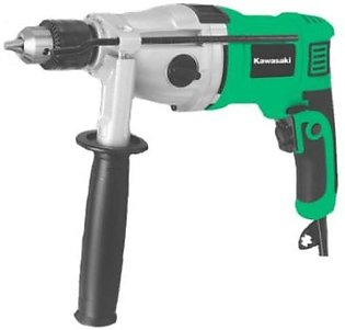 Impact Drill Machine - KAWASAKI - 1050 Watts - 2 Gears - Metal Head n Gear - Co…