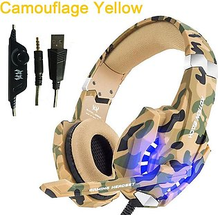 KOTION EACH G9600 Camouflage Headset Noise Canceling Headset with mic