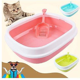 1410 Pet Cat litter tray with scoop 14'' x 10'' inch Pet Cat Litter Box Medium …