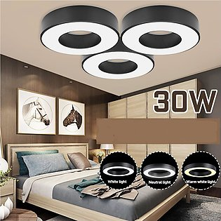 LED Ceiling Lights Round Panel Down Light Kitchen Bathroom Wall Lamp -- Neutral…