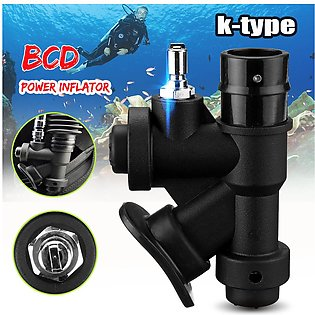 Universal BCD Power Inflator for Scuba Diving Regulators Lightweight +Cable ties