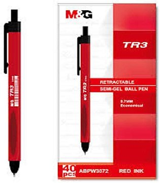Ball Pen Tr 3 - Pack Of 40 - Red