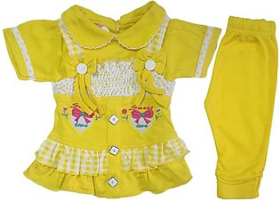 Baby girl frock new check style