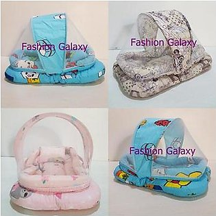 Small Baby Bed With Mosquito Net And Pillow
