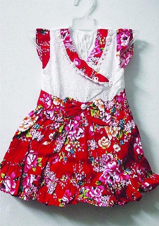 Summer Baby Girl Dress Kids Frok White And Red