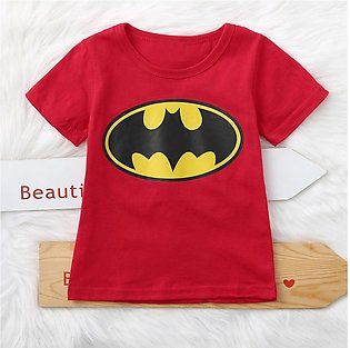 Toddler Kid Baby Boys Girls Short Sleeve Cartoon Print Batman T Shirt  Tees Tops