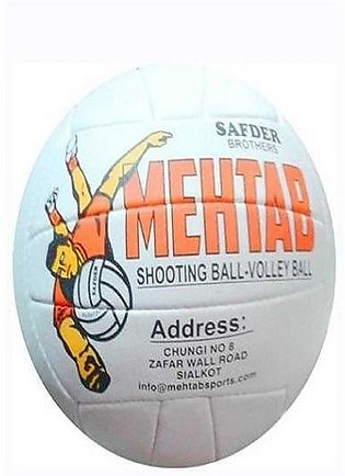 Pack of 2 - Shooting Ball (Mehtab Supreme) and Volley Ball Net